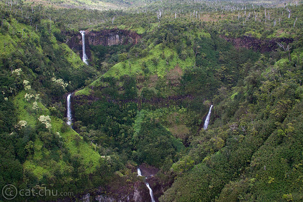 Series of waterfalls - I took this from a helicopter.